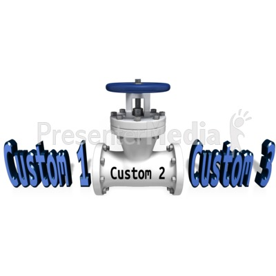 Custom Text Valve Control Presentation clipart