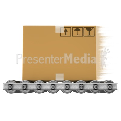 Speedy Box On Shipping Rollers Presentation clipart