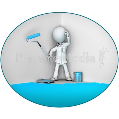 Paint Oneself Into A Corner Presentation clipart