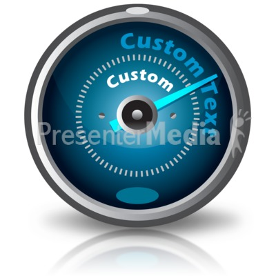 Custom Text Gauge Presentation clipart
