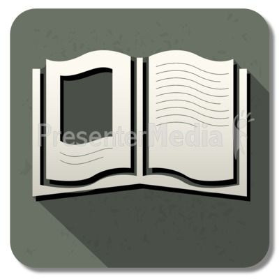 Book Square Icon Presentation clipart