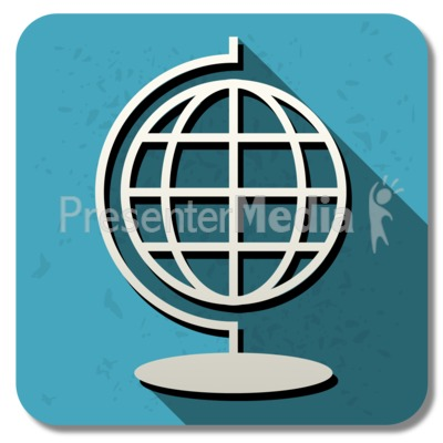 Geography Square Icon Presentation clipart