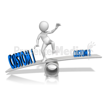 Unbalanced Custom Text Presentation clipart