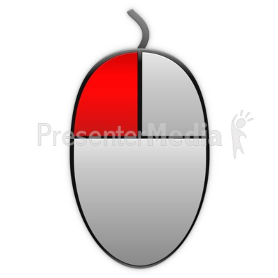 Left Mouse Highlight Icon Presentation clipart