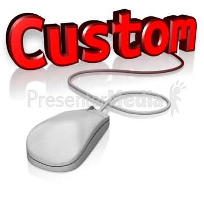 Custom Text Mouse Presentation clipart