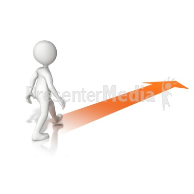 Walking With Arrow Presentation clipart