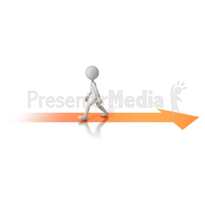 Walking Opposite Arrow Presentation clipart