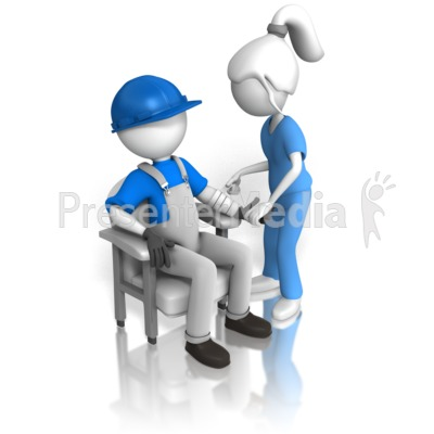 Inspecting Construction Worker Presentation clipart