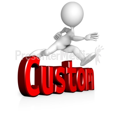 Figure Jump Custom Text Presentation clipart