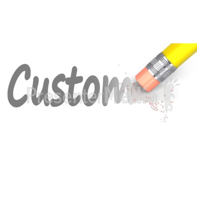 Erase Custom Text Presentation clipart