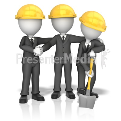 Business Figures Breaking Ground Presentation clipart