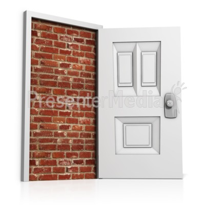 Blocked Door Presentation clipart