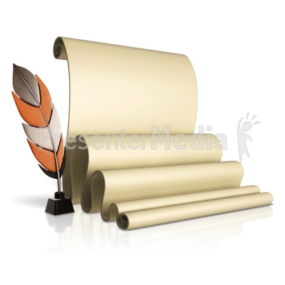 Feather Pen And Scroll Presentation clipart