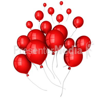 Balloons Floating Away Presentation clipart