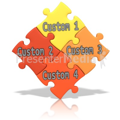 Custom Puzzle Words Presentation clipart