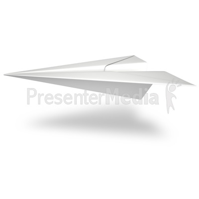 Single Paper Airplane Presentation clipart