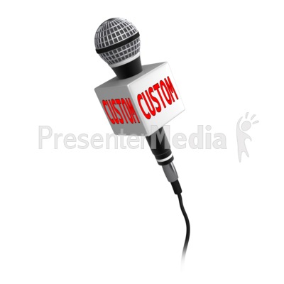 Custom Text Microphone Presentation clipart