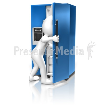 Figure Look In Refrigerator Presentation clipart