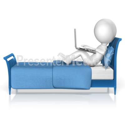 Figure Bed Computer Presentation clipart