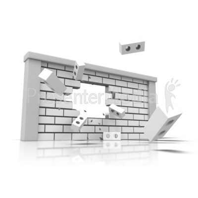 Brick Wall Broken Presentation clipart