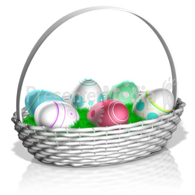 Easter Basket Presentation clipart