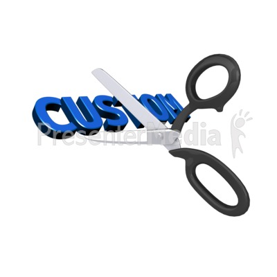 Cutting Custom Text Presentation clipart