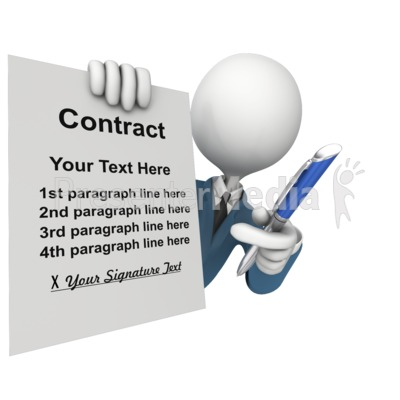 Custom Contract Sign Presentation clipart