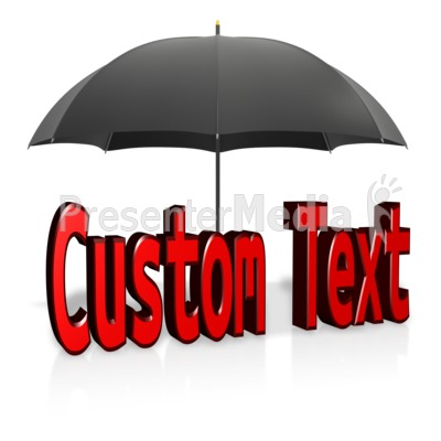Custom Text Shelter Presentation clipart