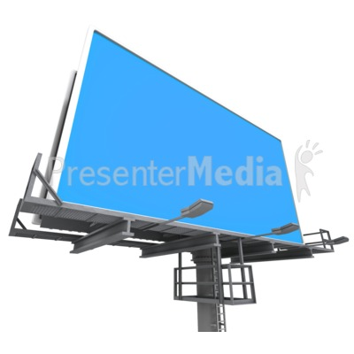 Billboard Low Angle Presentation clipart