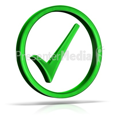 Check Mark Circle Presentation clipart