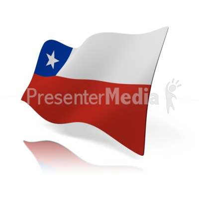 Chile Flag Presentation clipart
