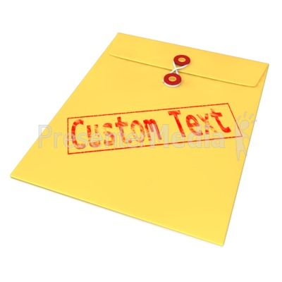 Custom Text Envelope Presentation clipart