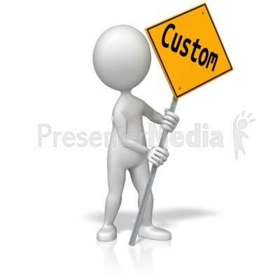 Figure Holding Custom Street Sign Presentation clipart
