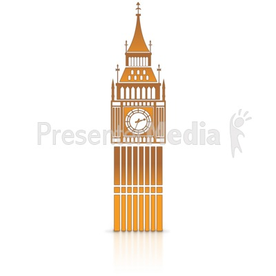 Big Ben Clock Tower Presentation clipart