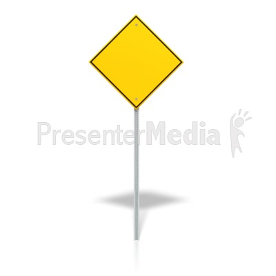 Blank Road Sign Presentation clipart