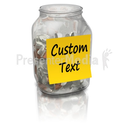 Coin Jar Custom Presentation clipart