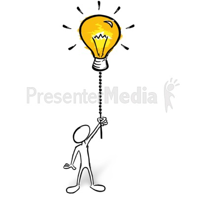 Turn The Creativity On Presentation clipart