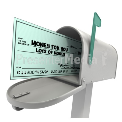Mailbox With Check Presentation clipart