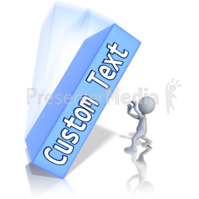 Figure Crushed By Custom Text Box Presentation clipart