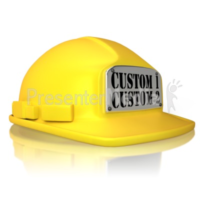 Custom Hard Hat Presentation clipart