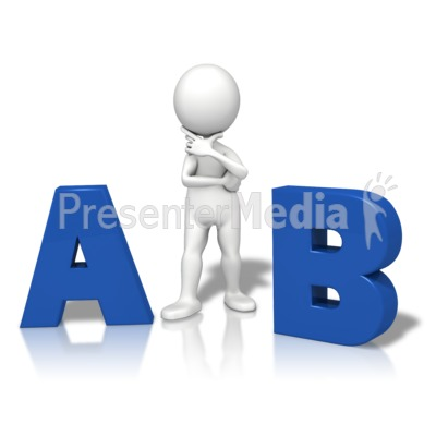 A Or B Which One Presentation clipart