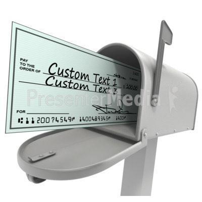 Mailbox With Custom Check Presentation clipart