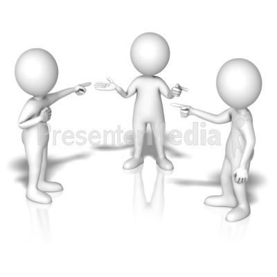 Group Blame Game Presentation clipart