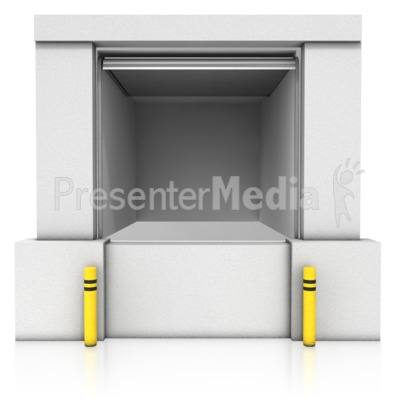 Loading Dock Open Bay Presentation clipart