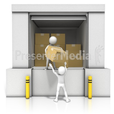 Unloading Dock Boxes Presentation clipart
