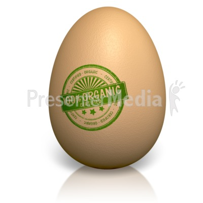 Certified Organic Egg Presentation clipart