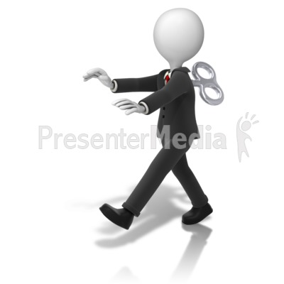 Business Figure Toy Walking Presentation clipart