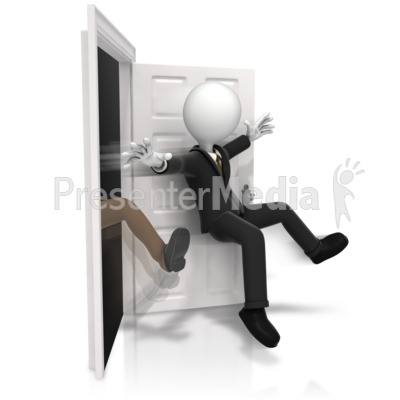 Getting Kicked Out The Door Presentation clipart