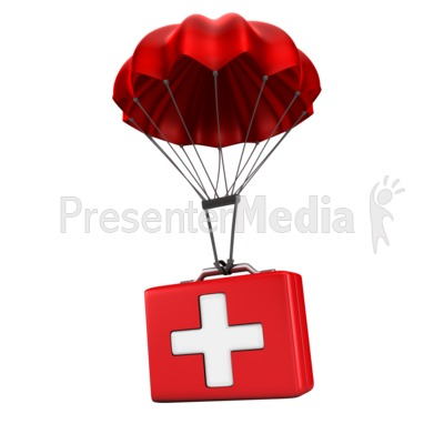 Sending Medical Relief Presentation clipart
