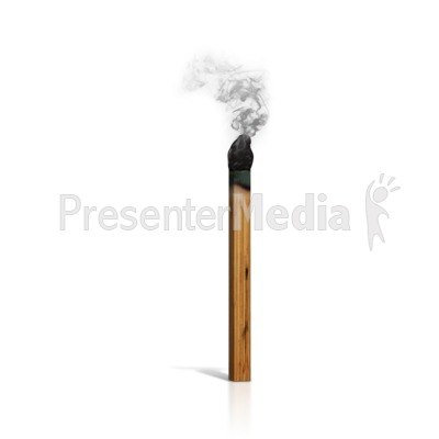 A Burnt Match Presentation clipart